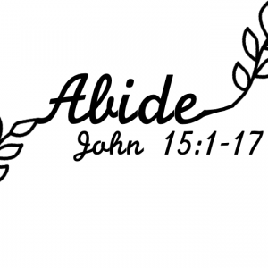 abide, vine, cursive, john, 15:1-17